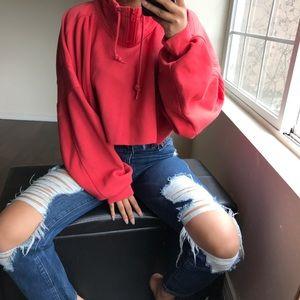 Vintage red crop sweatshirt